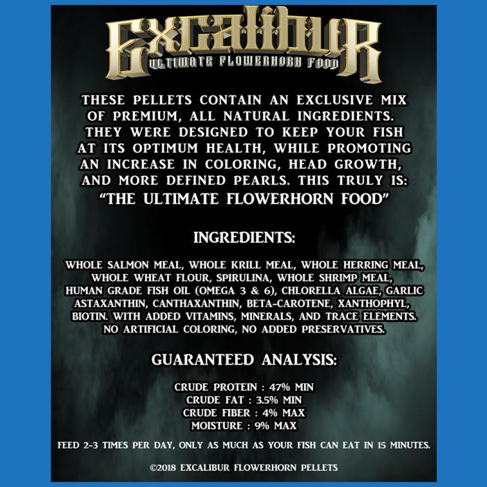 Excalibur Original Flowerhorn Food