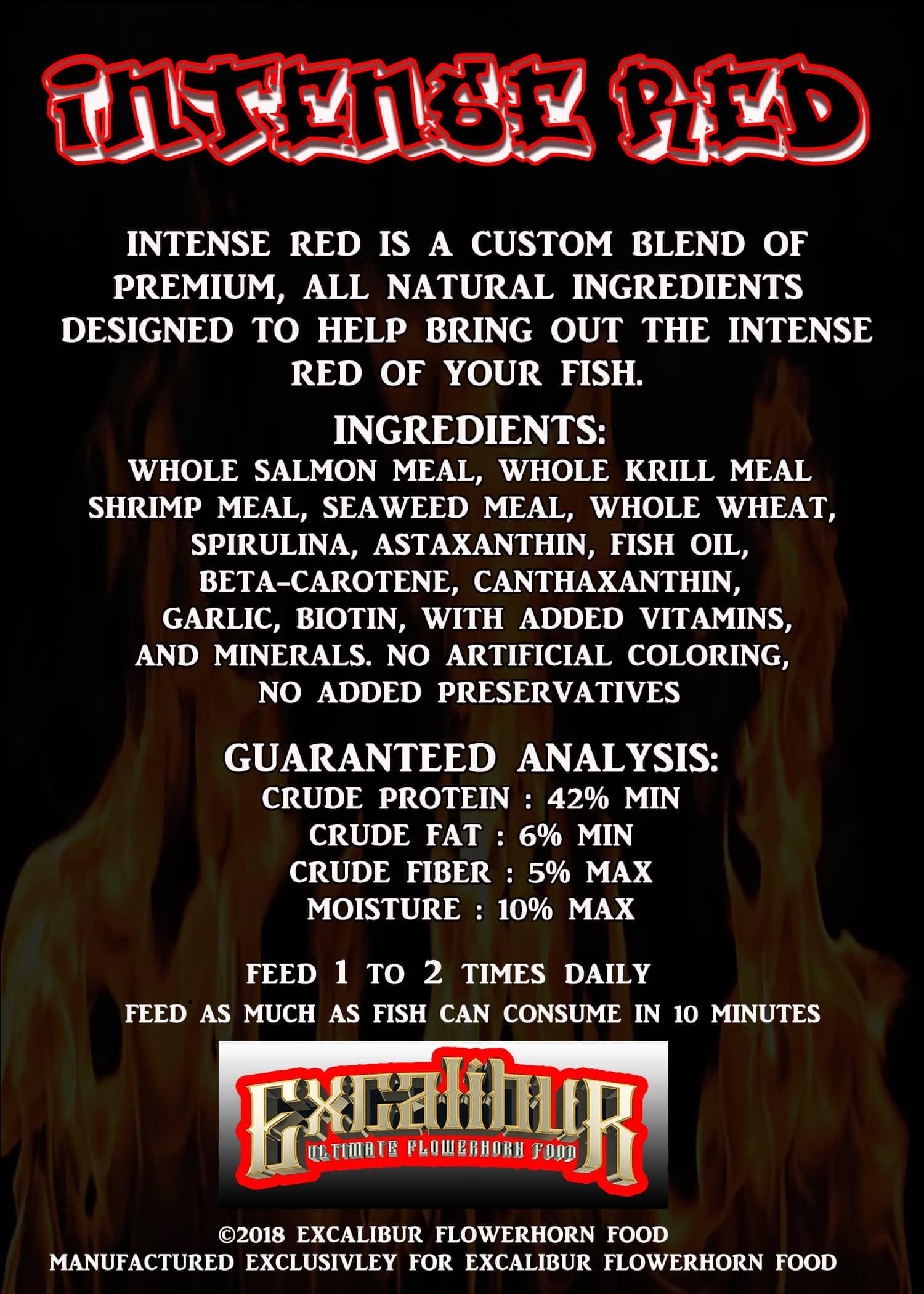 Intense Red Flowerhorn Food